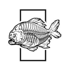 Skeleton piranhas vector