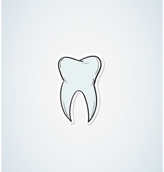 sketch of the tooth vector image vector image