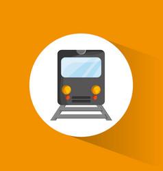 Train locomotive passenger transport vector