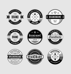 Vintage logo badges 1 vector