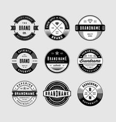 Vintage logo badges vector