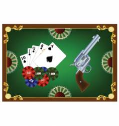 vwestern poker vector image vector image