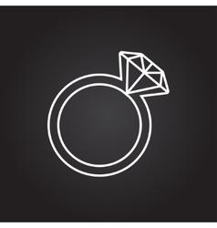 wedding ring icon vector image