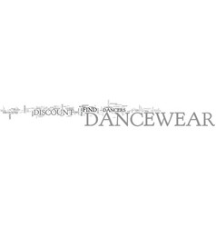 where can i go to buy discount dancewear text vector image vector image