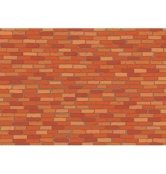 Elegant realistic red brick wall background vector