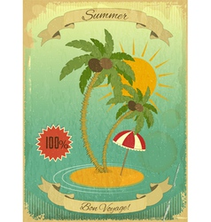 Retro vintage grunge summer vacation postcard vector