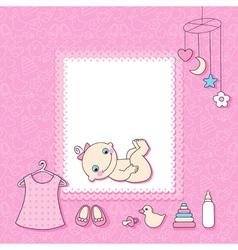 Baby girl vector image