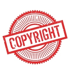 Copyright stamp rubber grunge vector
