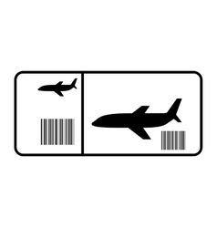 Ticket flight isolated icon vector