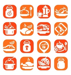 Color food icons vector