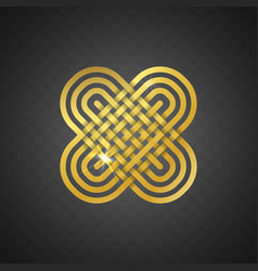 isolated abstract golden logo on vector image