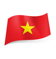 National flag of vietnam red background with vector