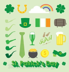 St patricks day icons and symbols vector
