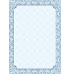 Blue background with decorative ornate vector