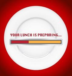 Lunch preparing vector image