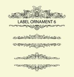 Label ornament 6 vector image