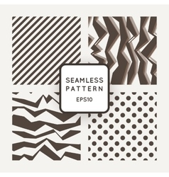 Set of seamless monochromatic patterns with vector