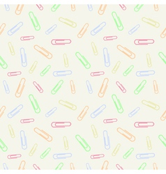 Seamless pastel pattern with clips vector
