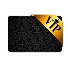 VIP Ribon on Card vector image