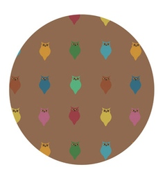 Cute pattern of colorful owls vector