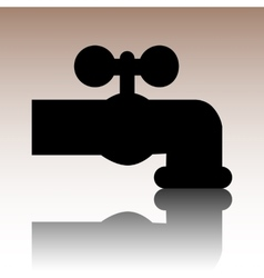 The water faucet icon vector