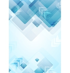 Tech geometric background with squares and arrows vector