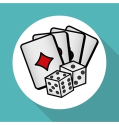 Casino dice design vector