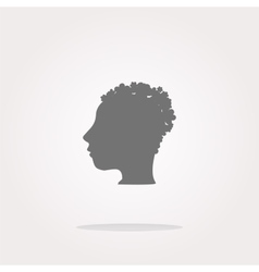 Idea people head circle glossy wen icon vector