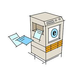 A copy machine vector
