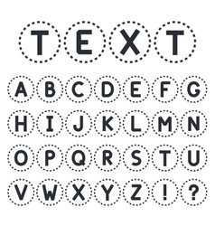 Abstract font collection alphabet capital letters vector