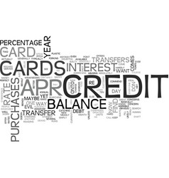 Apr credit cards you can find text word cloud vector