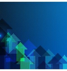 Background blue arrows vector