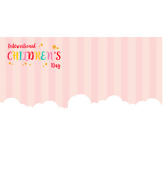 Background childrens day with cloud vector