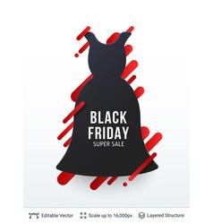 Black friday clothing fashion sale vector