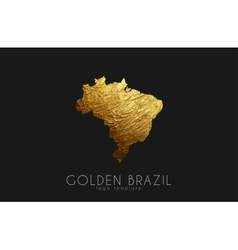 Brazil map golden brazil logo creative brazil vector