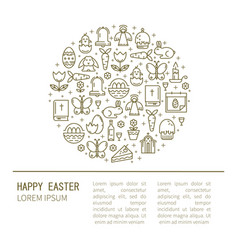 brochure with symbols of easter vector image vector image