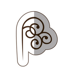 brown decorative swirl icon vector image