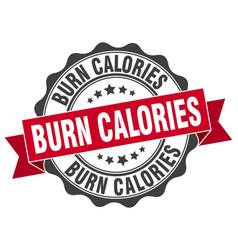 Burn calories stamp sign seal vector