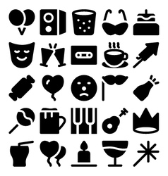 Celebration and Party Icons 8 vector image
