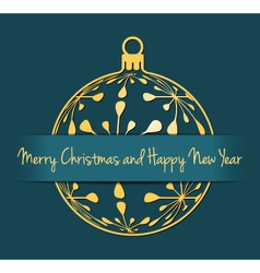 Christmas and New Year cyan background vector image vector image