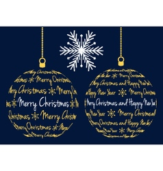 christmas ball with text vector image vector image