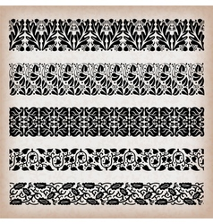 Decorative vintage borders vector