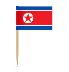 flag of north korea flag toothpick vector image