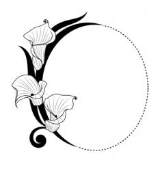 Floral boarder vector