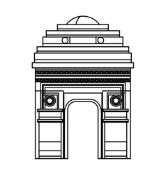 indian landmark building icon vector image