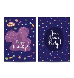 Invitation on Childrens Costumed Birthday Party vector image vector image