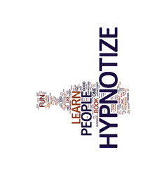 Learn to hypnotize text background word cloud vector