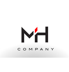 mh logo letter design vector image vector image
