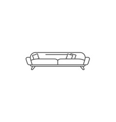 modern bed isolated icon in linear style vector image vector image