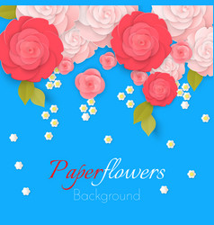paper flower realistic style of pink vector image vector image